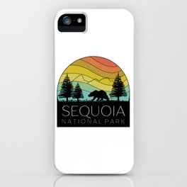 Copy of Sequoia National Park California Forest Kern River Retro Camping Redwoods iPhone Case
