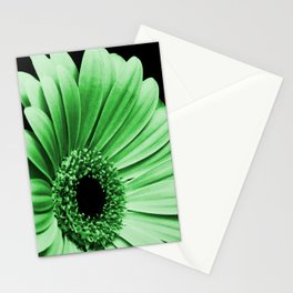 Gerbera Green Stationery Cards