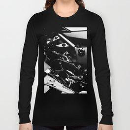 Kawasaki Ninja Motorcycle Wall Art V Long Sleeve T-shirt