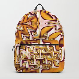 Fiery Orange and Cream Spiral Bends Backpack