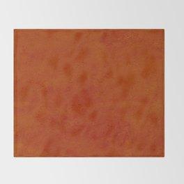 concrete orange brown copper plain texture Throw Blanket