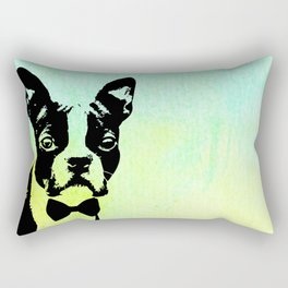 Boston Terrier in a Bow Tie Rectangular Pillow