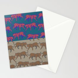 wild tigers pattern 1 Stationery Cards