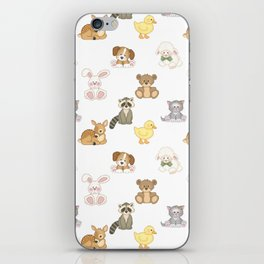 Cute Woodland Farm Baby Animals Nursery iPhone Skin