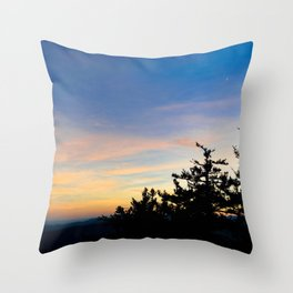 Devil's Courthouse Throw Pillow