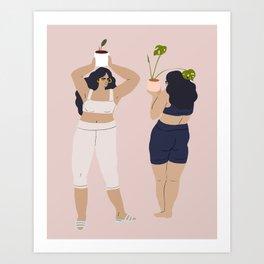 plant dance Art Print