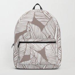 Tropical minimalistic leaves Backpack