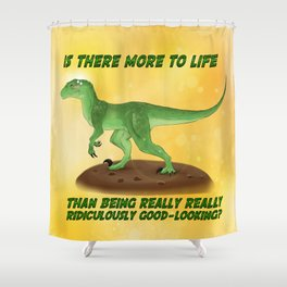 Dinosaurs | Sexy Raptor Shower Curtain