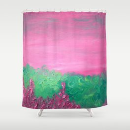 prickly pink Shower Curtain