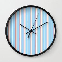 Blue Stripe Pattern Wall Clock