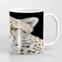 cheetah Mugs featuring Cheetah by Lynn Bolt