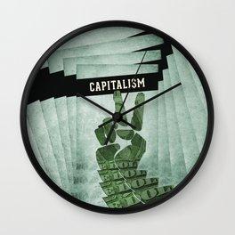 Capitalism Wall Clock