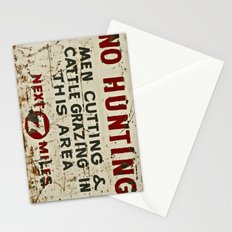 No Hunting! Stationery Cards