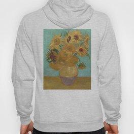Vincent Willem van Gogh, 1889, Sunflowers / Vase with Twelve Sunflowers, Oil On Canvas Artwork Hoody