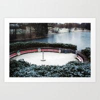 oslo Art Prints featuring Oslo by Infra_milk