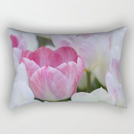 Tulips in White and Pink for a Happy Wedding! Rectangular Pillow