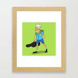 Hipster Finn Framed Art Print