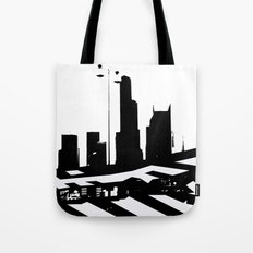 City Scape in Black and White Tote Bag