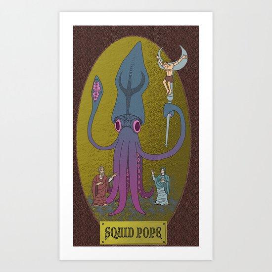 squid-pope Art Print