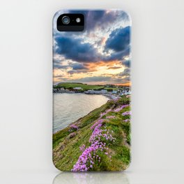 Freshwater Bay Sea Thrift Sunset (V) iPhone Case