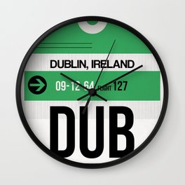 DUB Dublin Luggage Tag 1 Wall Clock