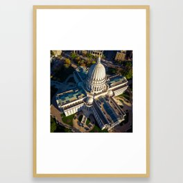 Wisconsin State Capitol Building Framed Art Print