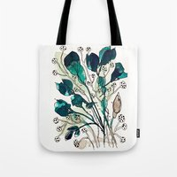 emerald Tote Bags featuring Emerald by Tonya Doughty