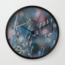 Small flowers Wall Clock