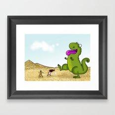Run Run as fast as you can .. Framed Art Print