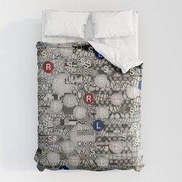 Do The Hokey Pokey (P/D3 Glitch Collage Studies) Comforters