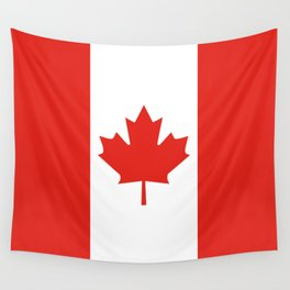 Red and White Canadian Flag Wall Tapestry