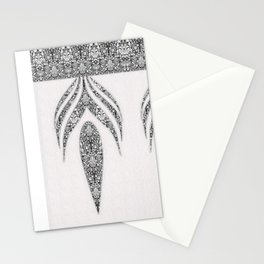 Jean flowers and arabesques Stationery Cards