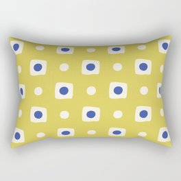 Mid Century Square Dot Pattern 8 Rectangular Pillow