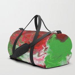 Christmas Acrylic Pour Duffle Bag