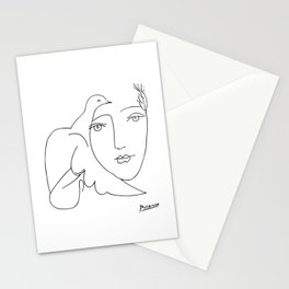 Pablo Picasso Peace (Dove and Face) T Shirt, Sketch Artwork Stationery Cards