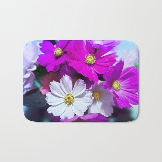 Wild Bouquet of Flowers Bath Mat