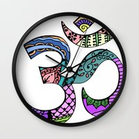 ohm Wall Clocks featuring Ohm by Ilse S