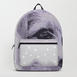 Curious little dog waiting for you - funny dog portrait Backpack