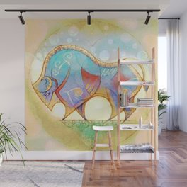 Rainbow Bison II Wall Mural