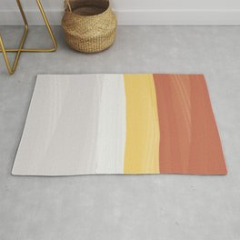 Soft yellow-red Rug