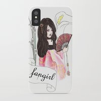 fangirl iPhone & iPod Cases featuring Fangirl by Zomberflie
