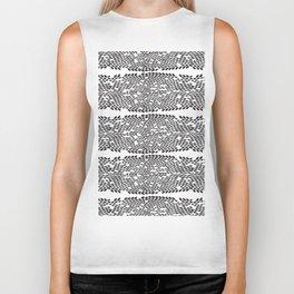 Snake skin scales texture. Seamless pattern black on white background. simple ornament Biker Tank