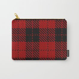 hipster red & black - holiday and everyday classic tartan check plaid nostalgic Carry-All Pouch