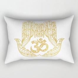 Hamsa - Om symbol Rectangular Pillow