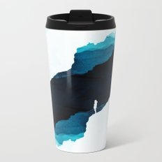 Teal Isolation Metal Travel Mug