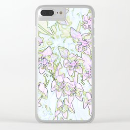 Colored shades of milkweed Clear iPhone Case