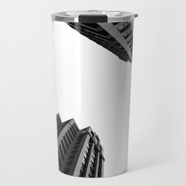 Architecture Minimalism Black and White Photography Travel Mug