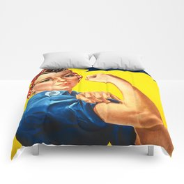 Rosie The Riveter Vintage Women Empower Women's Rights Sexual Harassment Comforters