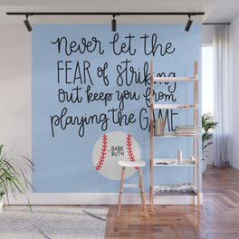 Fear of Striking Out II Wall Mural