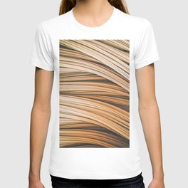Beige Strands. Abstract Design T-shirt